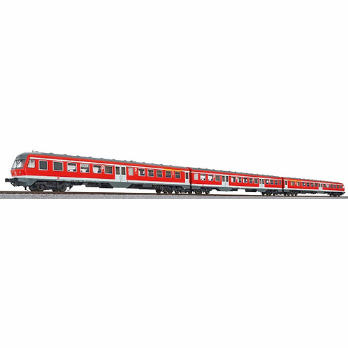 Liliput Spur H0 Dieseltriebwagen BR 614, verkehrsrot, 3-teilig, DB AG
