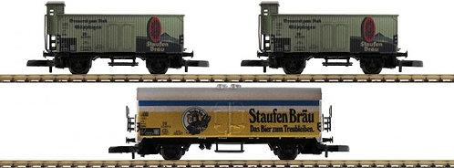 "Märklin Spur Z 3-teiliges Güterwagen-Set ""Staufenbräu"""