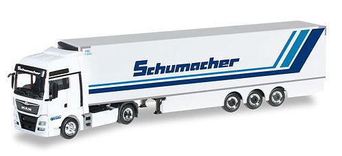 """Herpa Spur H0  MAN TGX XXL Euro6 Kühlkoffer-Sattelzug """"Spedition Schumacher"""""""