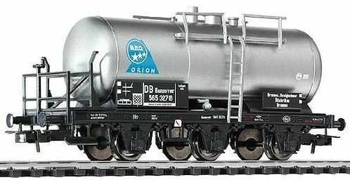"Liliput Spur H0 3-achsiger Kesselwagen ""BB.O. Orion"" Bremserbühne DB, Epoche III"