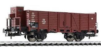 Liliput Spur H0 Offener Güterwagen mit Bremserhaus Om 21 der DB, Epoche III