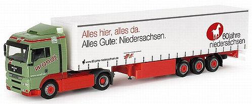 """Herpa Spur H0 MAN TGA XLX GaPlaSz """"Wandt - 60 Jahre Niedersachsen"""""""