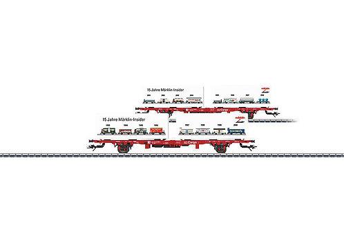 """Märklin Spur H0 Containertragwagen """"15 Jahre MHI"""""""