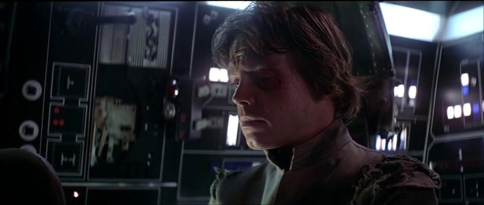 Disappointed Luke Skywalker