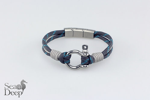 Silver Shackle Gray Rope