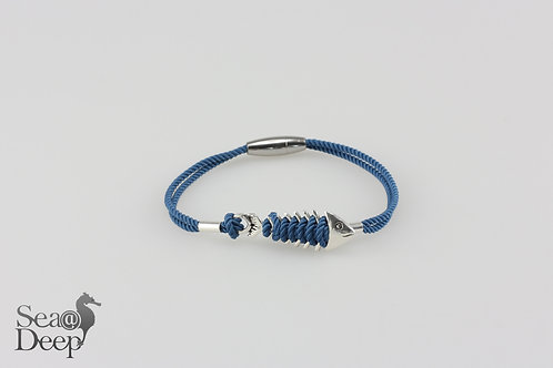 Silver Fish Blue Rope