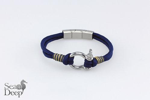 Silver Shackle Dark Blue Rope