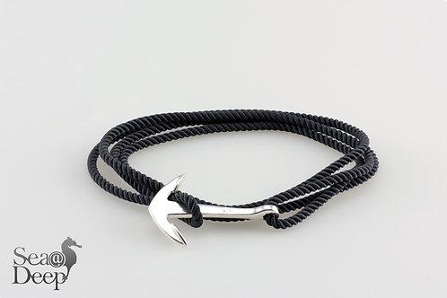 Silver Anchor - Dark Blue Marine Rope
