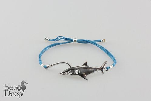 Silver Shark- Blue Rope