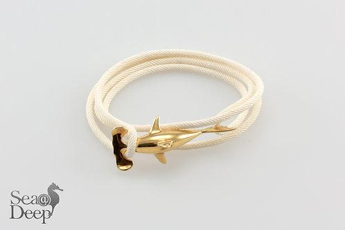 Silver Shark- White Rope