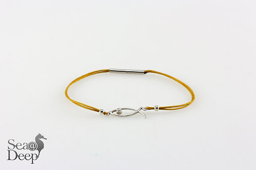 Silver Fish Yellow Rope