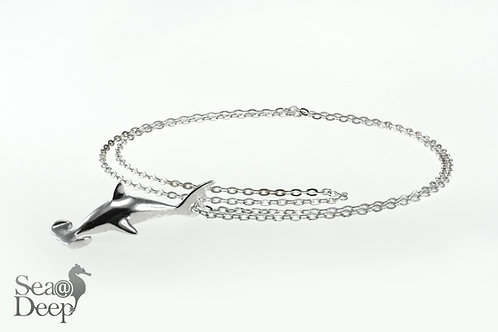 Silver Shark- Silver Chain