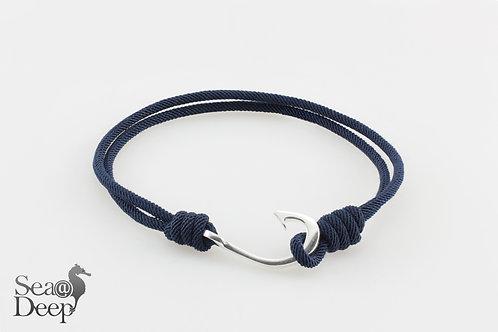 Silver Hook - Dark Blue Rope