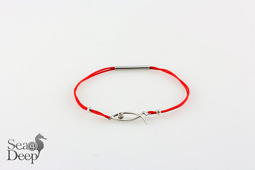 Silver Fish Red Rope