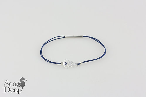 Silver Anchor -Blue Rope