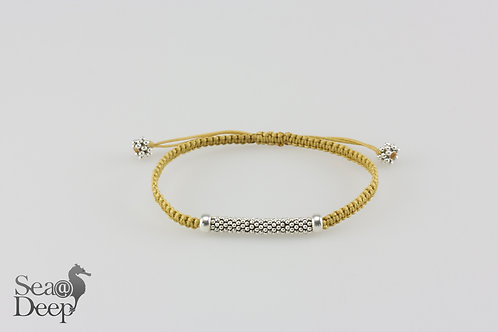 Silver with Yellow Rope
