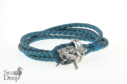 Pirater Skull - Blue Leather