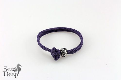 Silver with Purple Rope