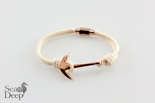 Silver Anchor - White Marine Rope