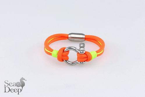 Silver Shackle Orange Rope