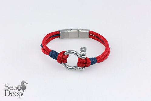 Silver Shackle Red Rope