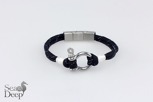 Silver Shackle Black Rope