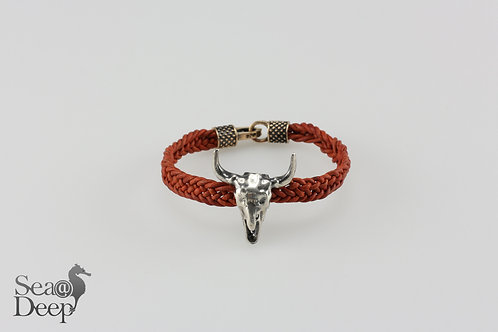 Pirate Skull - Brown Leather