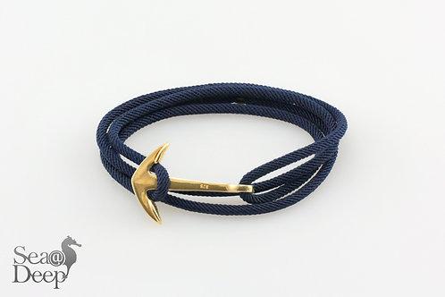 Silver Anchor - Dark Blue Rope