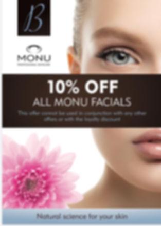 monu 10% off facial offer poster.jpg