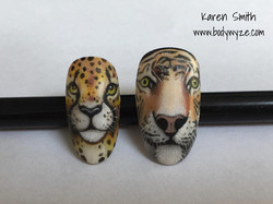 leopard and tiger nails