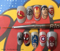 stick on superhero nails