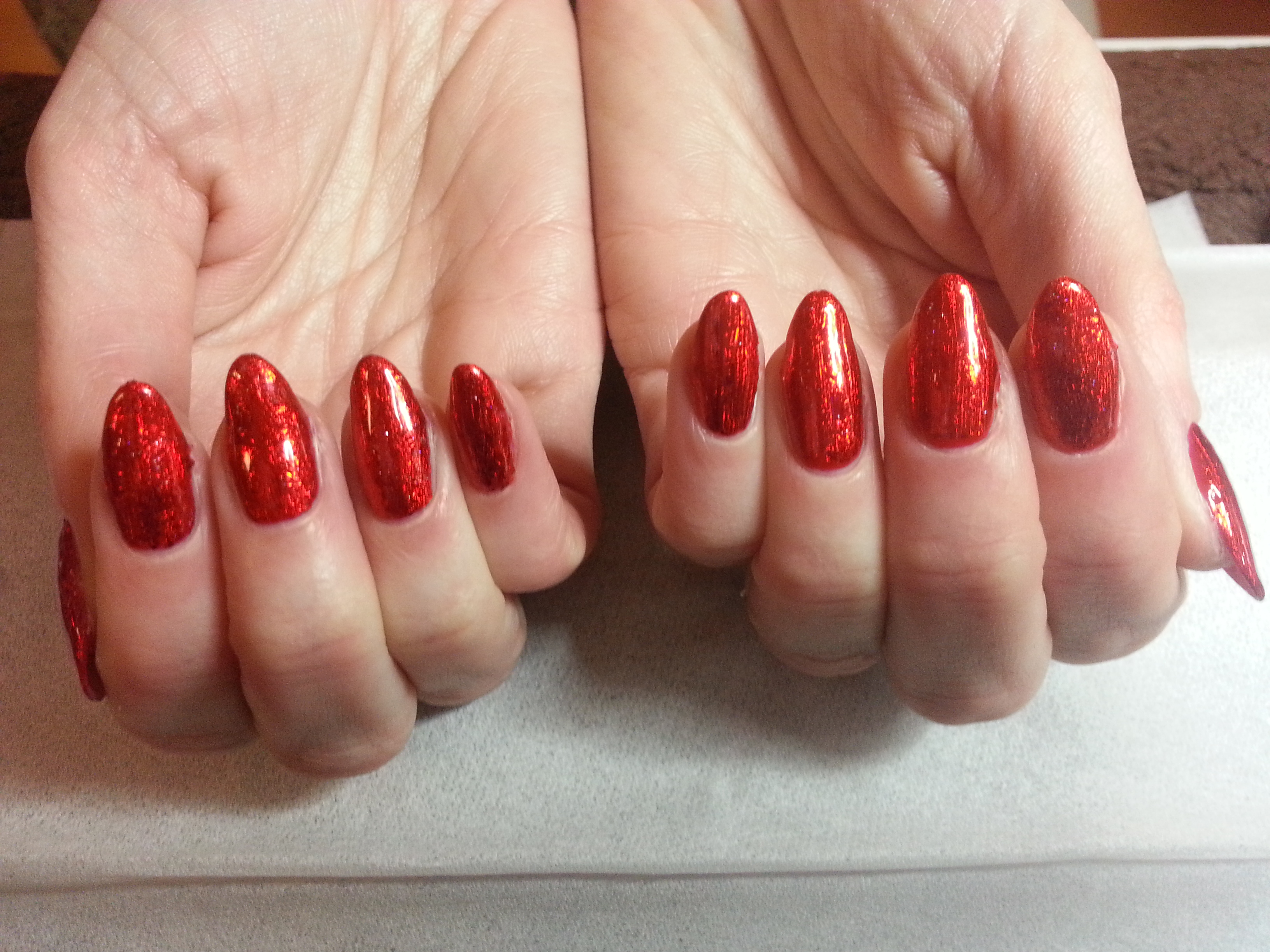 red foil nails