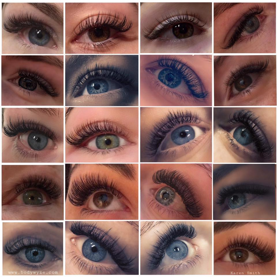 lashes single eye collage