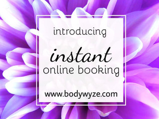 Online booking & Bodywyze app now available !