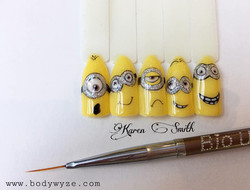 minion nails with brush