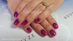 Purple crush with royal navy over the top