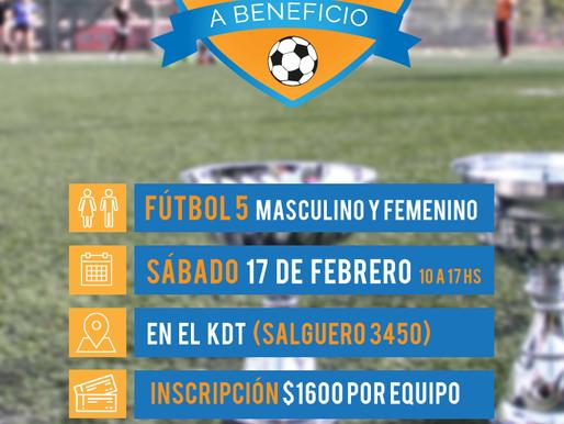 Fútbol solidario: ¡anotá a tu equipo!