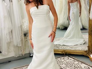 ivory satin wedding