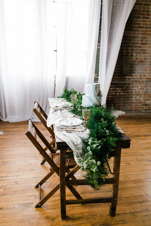 Photo by Megan Taylor Photography / Lavendar Blue Floral Artistry/ Drift Salvage and Deocr