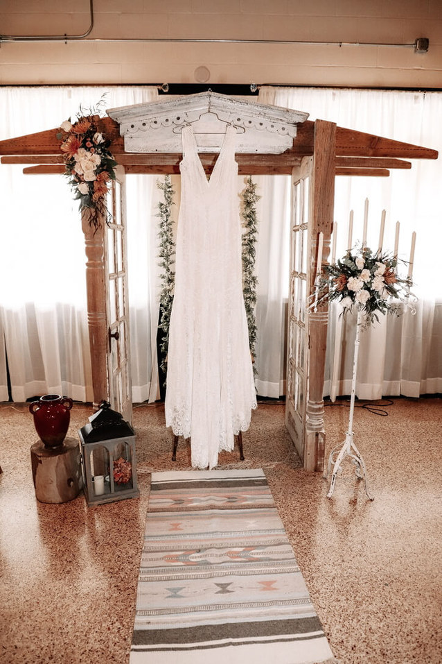 Drift Salvage and Decor furniture rentals/ Sherwood Forest Event Center location