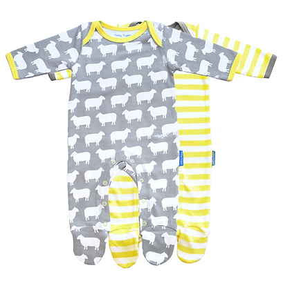 Toby Tiger Unisex Romper Set of 2