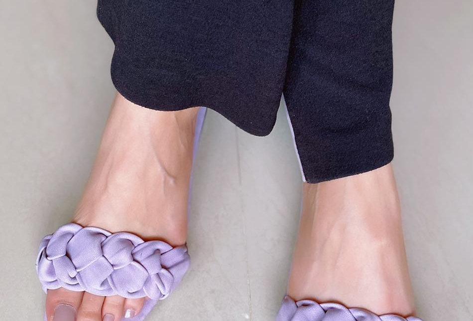 Lilac Braided Sandals