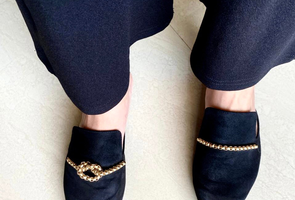 Solved knot Flat Mules