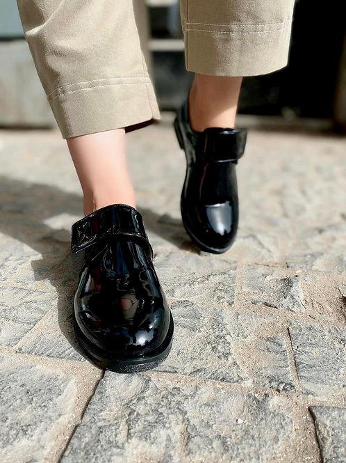 Elina Chic-choc Patent Leather Strap