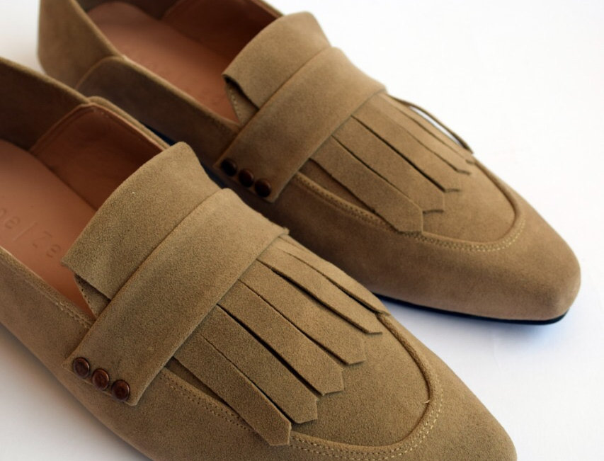 Fringed Square toe loafers