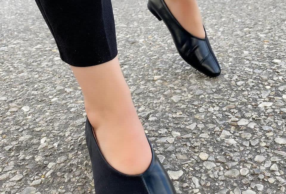 Gemini square toe loafers