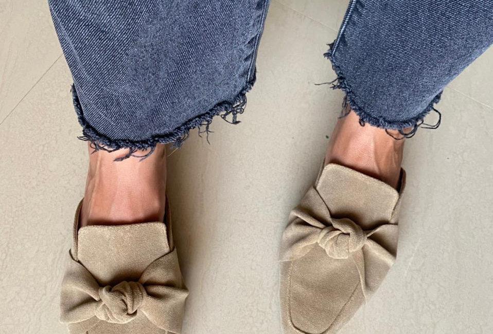 Square Toe Knot Mules