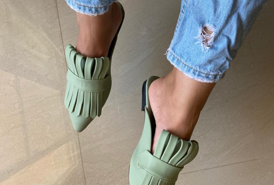 Mint Green Met Gala Mules