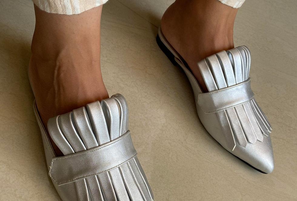 Silver Met Gala Mules