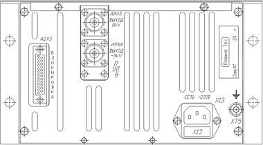 Пульт для проверки и контроля  параметровБКГР 9Е8789-5158«ИВЭ-341-02N» вид сзади